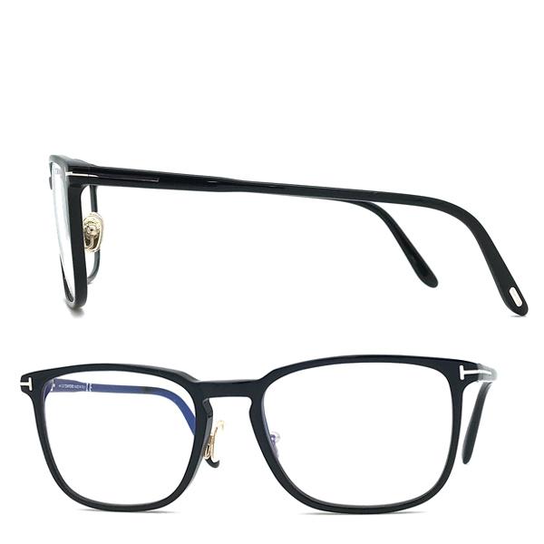 TOM FORD メガネフレーム ブラック 眼鏡 伊達メガネ用ブルーライトカットレンズ付 パソコン用 PCメガネ TF-5699B-001