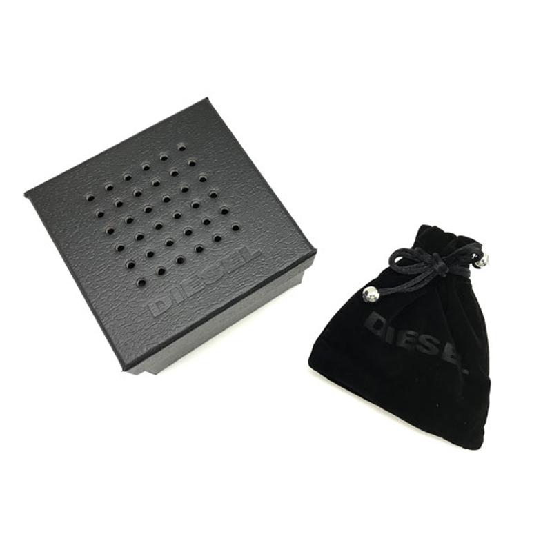 DIESEL ネックレス シルバー×ゴールド 南京錠型チャーム DX1203040