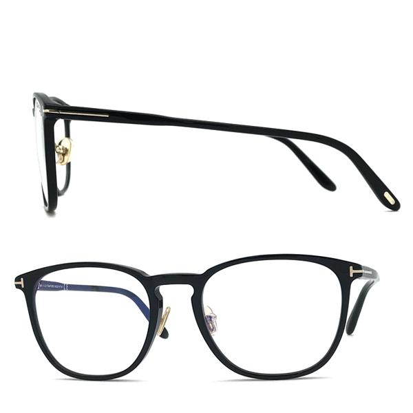 TOM FORD メガネフレーム ブラック 眼鏡 伊達メガネ用ブルーライトカットレンズ付 パソコン用 PCメガネ TF-5700B-001