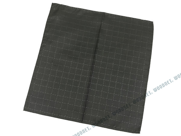 EMPORIO ARMANI ポケットチーフ 340033 ロゴ柄 シルク  アイロングレー