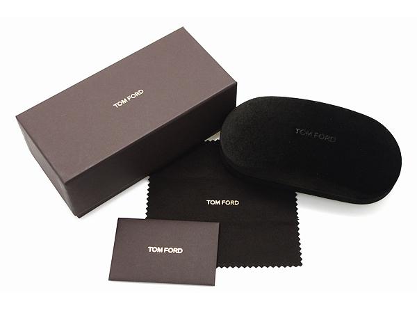 TOM FORD メガネフレーム ブラック×ゴールド 眼鏡 伊達メガネ用ブルーライトカットレンズ付 パソコン用 PCメガネ TF-5701B-001-55