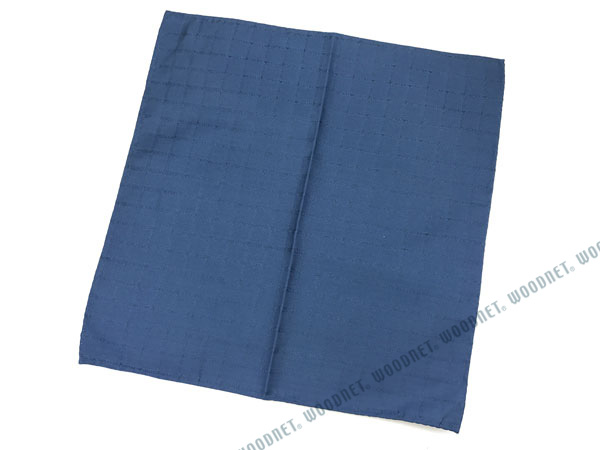 EMPORIO ARMANI ポケットチーフ 340033 ロゴ柄 シルク  サファイア