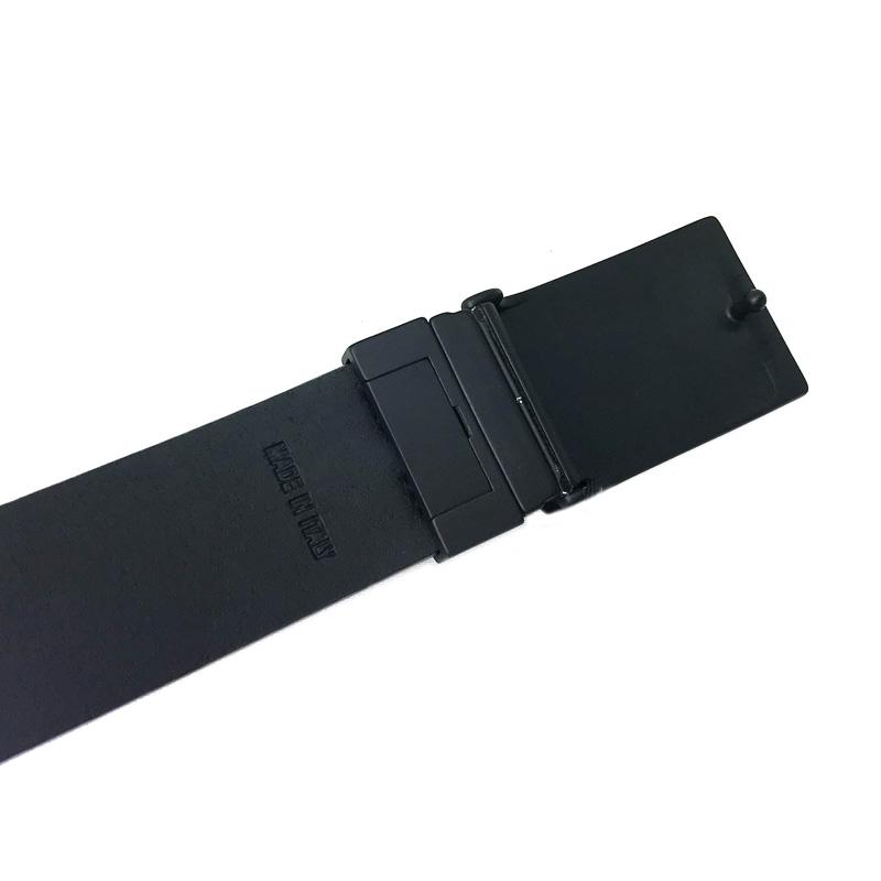 EMPORIO ARMANI ベルト Y4S200 リバーシブル  ブラック パンチングレザー×スムースレザー 長さ調節可能