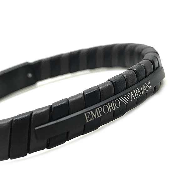 EMPORIO ARMANI ブレスレット ダークブラウン×ブラック EGS2717001
