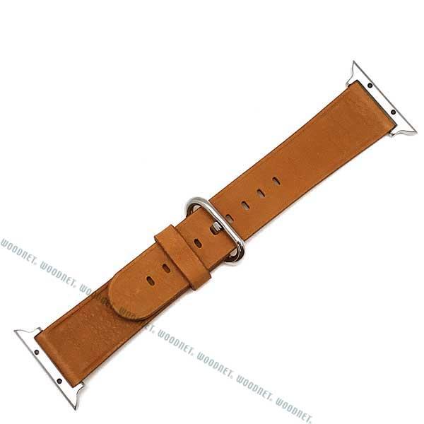 MORELLATO 時計ベルト カーフレザー アップルウォッチ38mm専用腕時計ベルト ゴールドブラウン D4739-A-STRAP-CASSA-A61-044-20