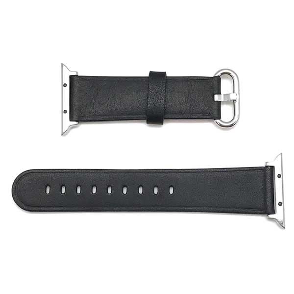 MORELLATO 時計ベルト カーフレザー アップルウォッチ38mm専用腕時計ベルト ブラック D4739-A-STRAP-CASSA-B50-019-20