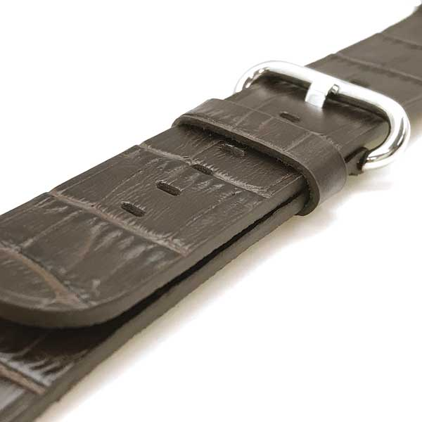 MORELLATO 時計ベルト 型押しカーフレザー アップルウォッチ42mm専用腕時計ベルト ダークブラウン U4739-A-STRAP-CASSA-480-032-22