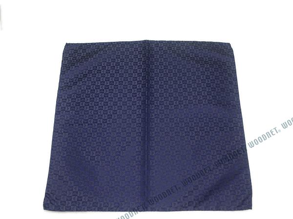 EMPORIO ARMANI ポケットチーフ 340033 イーグルロゴ柄 シルク  チャイナブルー