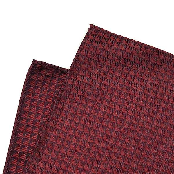 EMPORIO ARMANI ポケットチーフ イーグルロゴ柄 シルク ルビーメイプル 340033-613-05675
