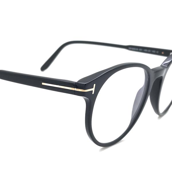 TOM FORD メガネフレーム ブラック 眼鏡 伊達メガネ用 ブルーライトカットレンズ付 パソコン用PCメガネ TF-5695B-001