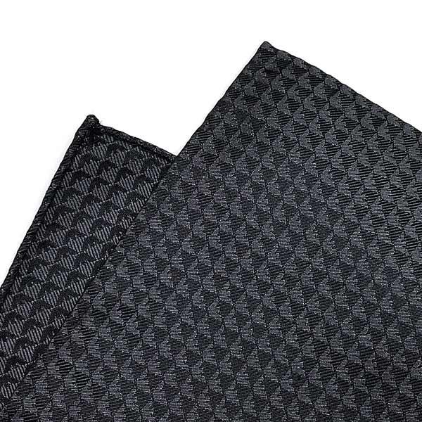 EMPORIO ARMANI ポケットチーフ イーグルロゴ柄 シルク スレートグレー 340033-613-10820