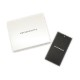 EMPORIO ARMANI キーホルダー イーグルロゴ PVCロゴプリントレザー ブラック×グレー Y4R284-YI46E-81127