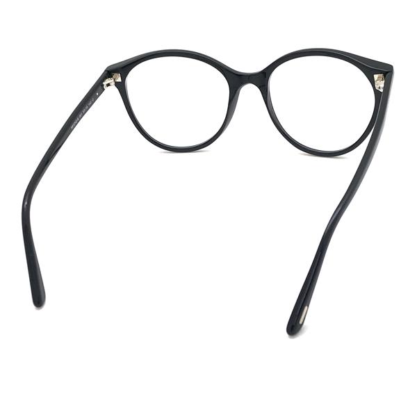 TOM FORD メガネフレーム ブラック 眼鏡 伊達メガネ用 ブルーライトカットレンズ付 パソコン用PCメガネ TF-5742B-001