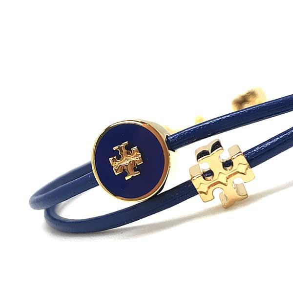 TORY BURCH 【レディース】ブレスレット ロゴ ブルー×ゴールド 61683-703