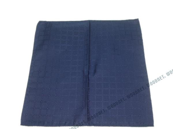 EMPORIO ARMANI ポケットチーフ 340033 ロゴ柄 シルク  チャイナブルー