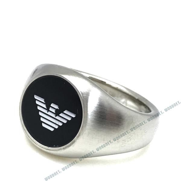 EMPORIO ARMANI リング・指輪 EGS2597040 マットシルバー×ブラック