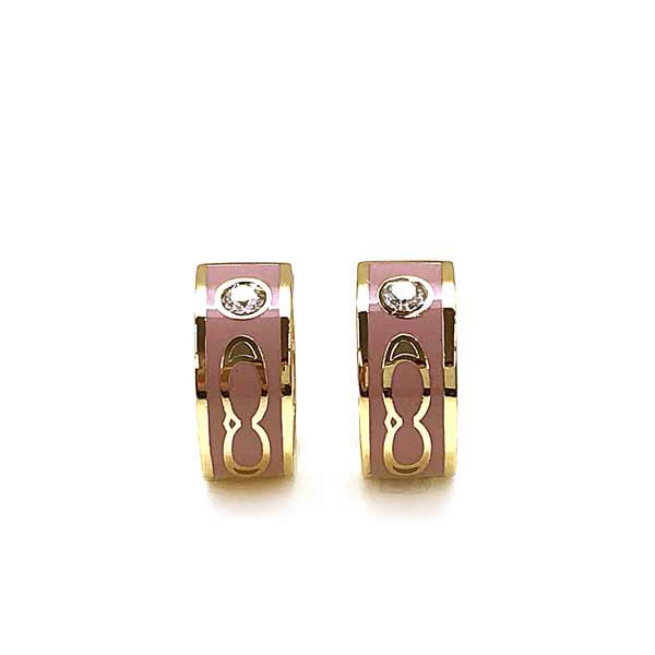 COACH ピアス【レディース】キッシング シグネチャー ハギー ゴールド×ピンク 89251-GDDRO