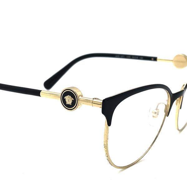 VERSACE メガネフレーム ブラック×ゴールド 眼鏡 0VE-1271-1433