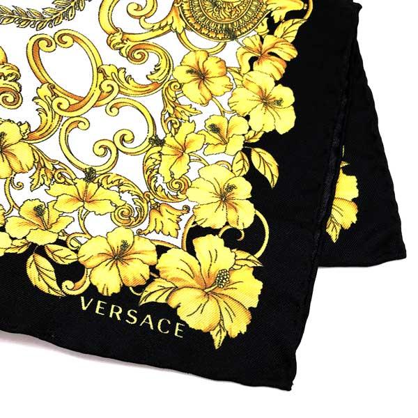 VERSACE ポケットチーフ ブラック×ゴールド IPO3301-IT03101-I7900