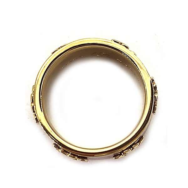 TORY BURCH リング・指輪【レディース】39582 ロゴ  ゴールド×ワインレッド
