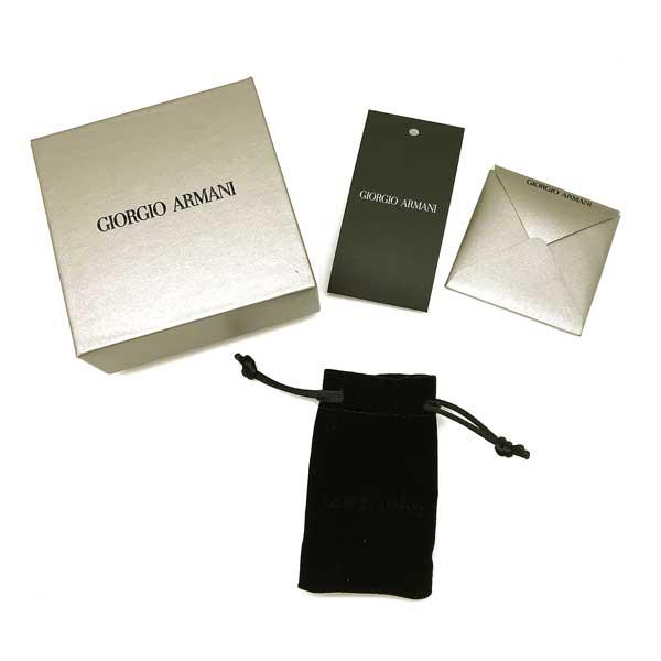 GIORGIO ARMANI ネクタイピン ロゴ シルバー×ブラック 53L630-630-00020