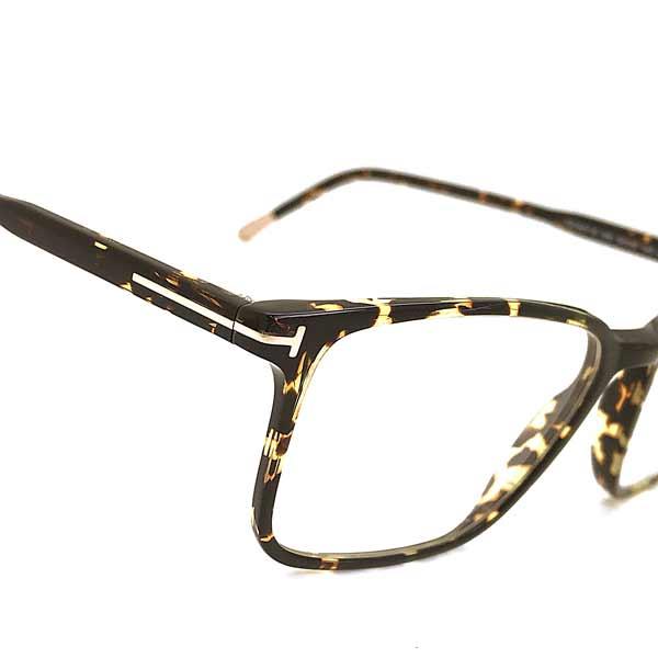 TOM FORD メガネフレーム マーブルブラウン 伊達メガネ用ブルーライトカットレンズ付 パソコン用PCメガネ 眼鏡 TF-5607B-056