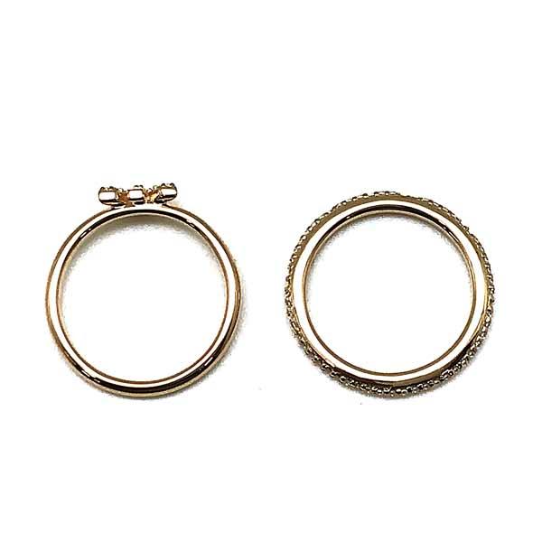 EMPORIO ARMANI リング・指輪 イーグルロゴ ゴールド 2連 EG3462221