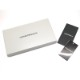 EMPORIO ARMANI ジップアラウンド長財布 ロゴ型押しPVCレザー ブラック YEME49-Y020V-81072