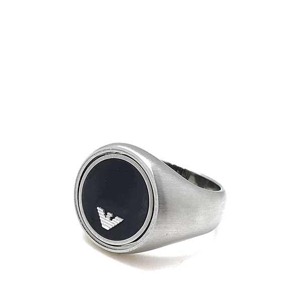 EMPORIO ARMANI リング・指輪 イーグルロゴ マットシルバー EGS2727040
