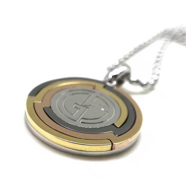 GIORGIO ARMANI ネックレス ロゴ シルバー×ゴールド 53L002-002-00017