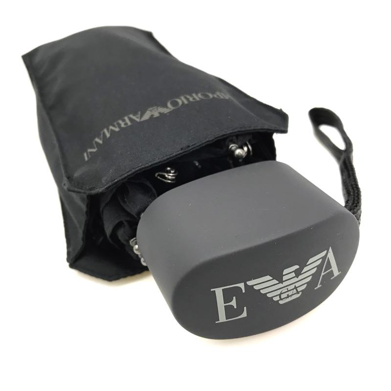 EMPORIO ARMANI 折りたたみ傘 日傘 ブラック イーグルロゴ 623000-001-00020