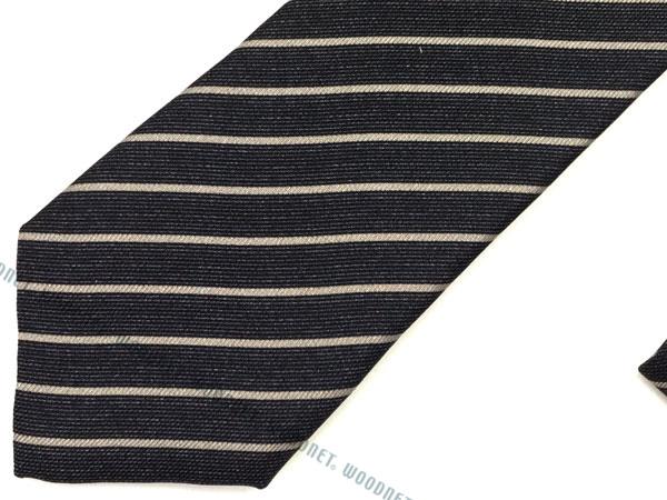 EMPORIO ARMANI ネクタイ 340049 シルク  ブルーグレー×グレー