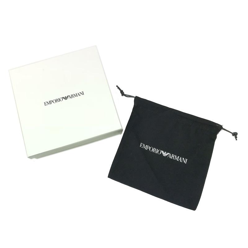 EMPORIO ARMANI ベルト イーグルロゴ レザー リバーシブル ブラック×グレー カット長さ調節可能 Y4S224-YLQ7E-81972