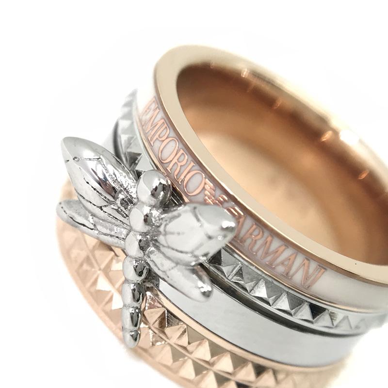 EMPORIO ARMANI リング・指輪 EGS2560221 ゴールド×シルバー×ホワイト