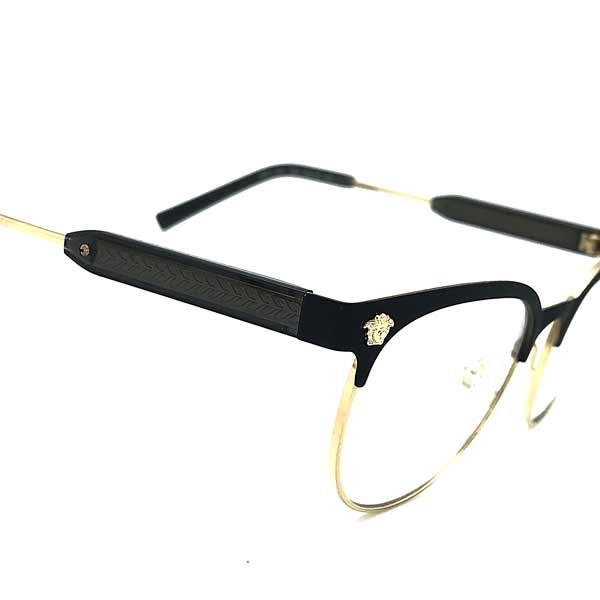 VERSACE メガネフレーム マットブラック×ゴールド 眼鏡 0VE-1268-1261