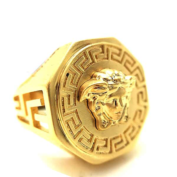 VERSACE リング・指輪メドゥーサロゴ シャンパンゴールド DG54710-DMT1-D00HS