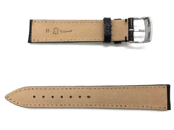 MORELLATO 腕時計ベルト バンド U0856 VOLTERRA ボルテラ リザードレザー  ブラック