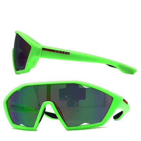 PRADA LINEA ROSSA サングラス グリーン×パープルミラー 0PS-16US-4471M2