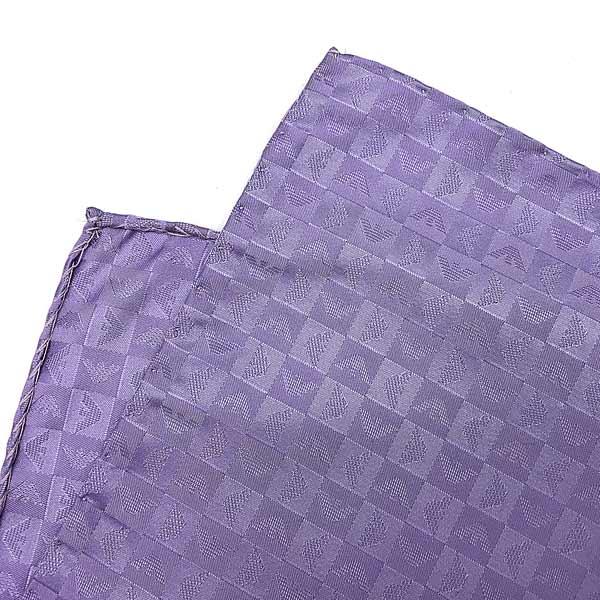 EMPORIO ARMANI ポケットチーフ イーグルロゴ柄 シルク ライラック 340033-612-00091