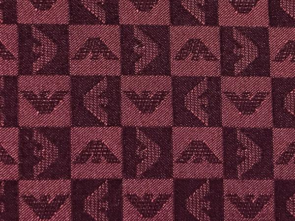 EMPORIO ARMANI ポケットチーフ イーグルロゴ柄 シルク バーガンディー 340033-612-00176
