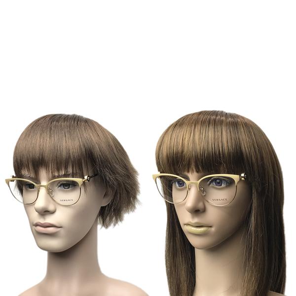 VERSACE メガネフレーム マットゴールド×ゴールド 眼鏡 0VE-1271-1410