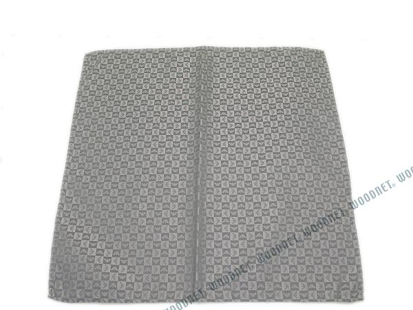 EMPORIO ARMANI ポケットチーフ 340033 イーグルロゴ柄 シルク  ライトグレー