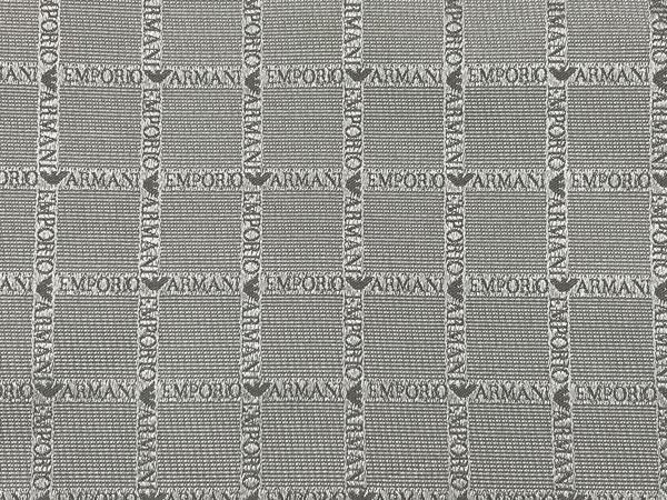 EMPORIO ARMANI ポケットチーフ 340033 ロゴ柄 シルク  グレー