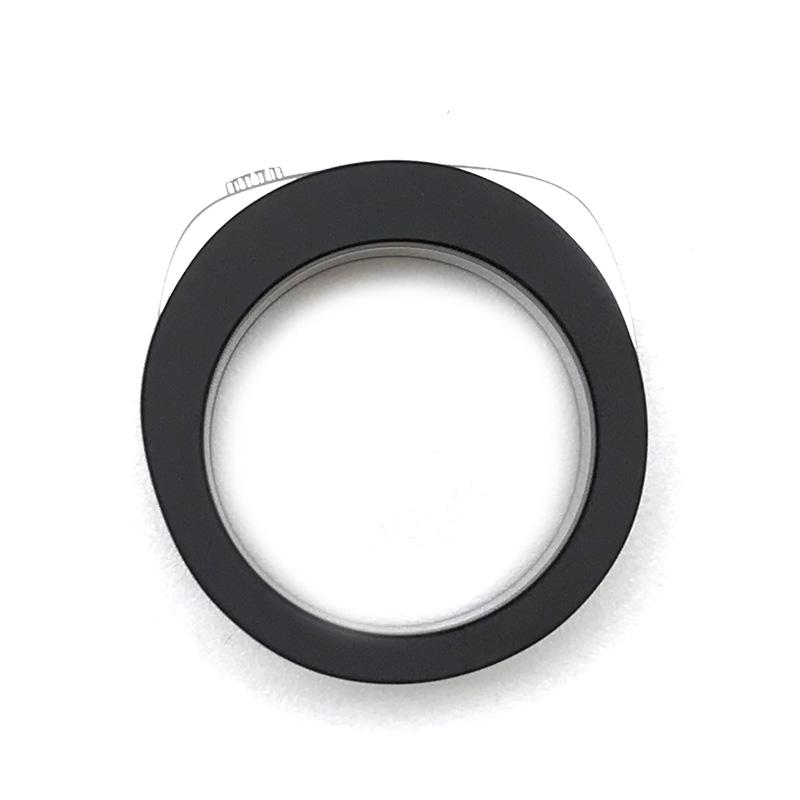 CALVIN KLEIN リング・指輪 KJ8AMR2001 マットブラック×シルバー