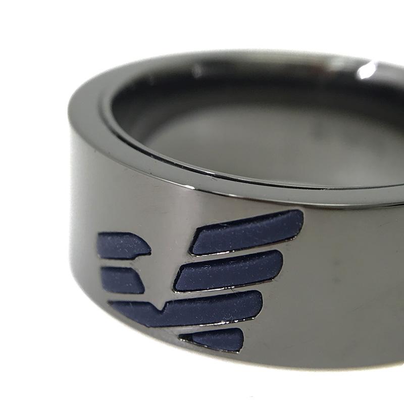 EMPORIO ARMANI リング・指輪 EGS2546060 ガンメタル×マットネイビー