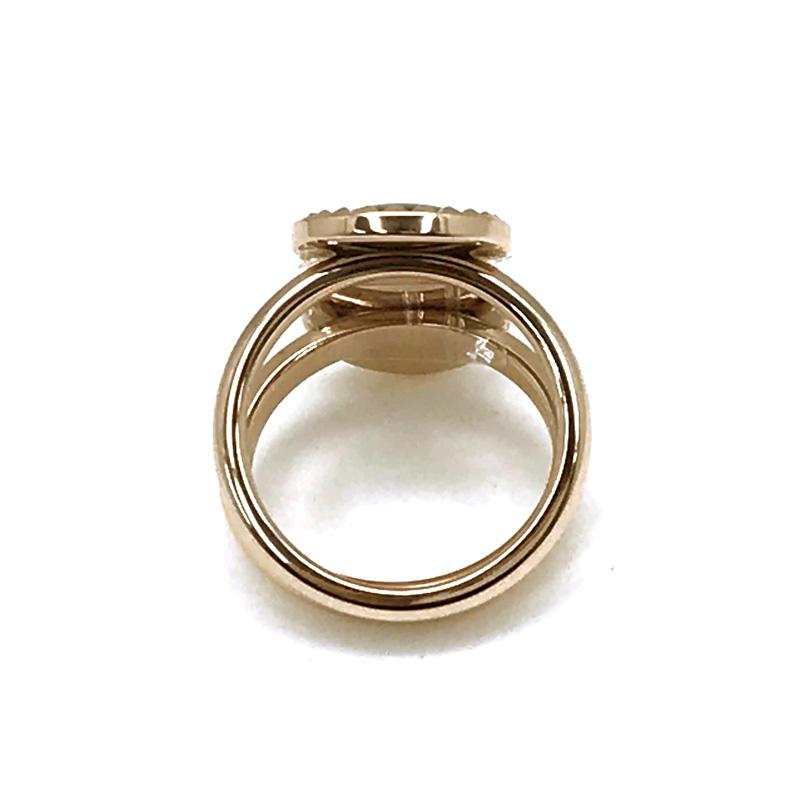 EMPORIO ARMANI リング・指輪 EGS2561221 ゴールド×ブラックパール×ホワイトパール 2連