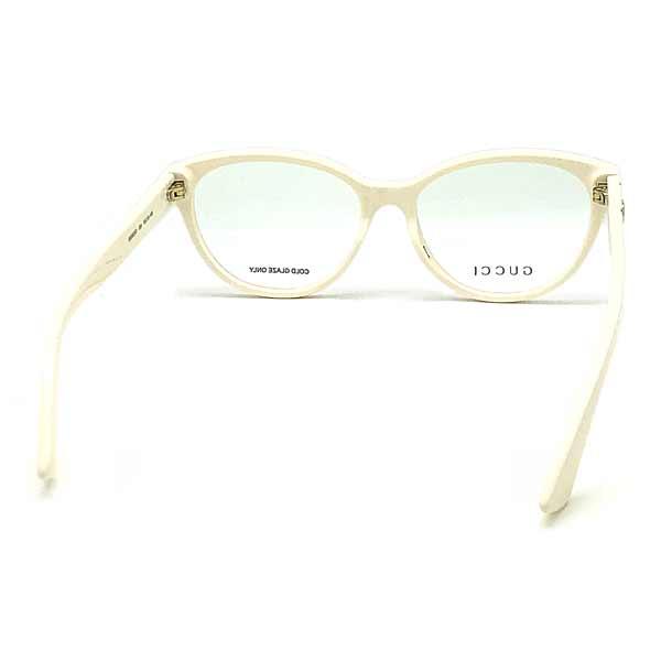 GUCCI メガネフレーム アイボリー 眼鏡 GUC-GG-0633O-004