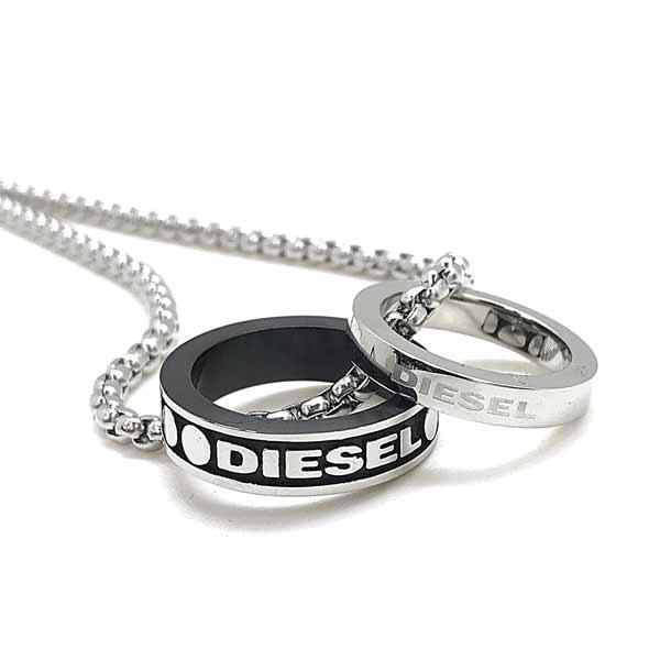 DIESEL ネックレス ダブルリング シルバー DX1168040