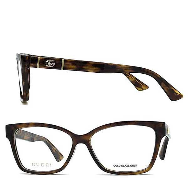 GUCCI メガネフレーム マーブルブラウン 眼鏡 GUC-GG-0634O-002