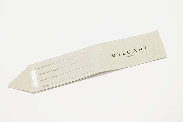 BVLGARI ネクタイ 242190 グリーン 「DIVA COMPASS」 シルク